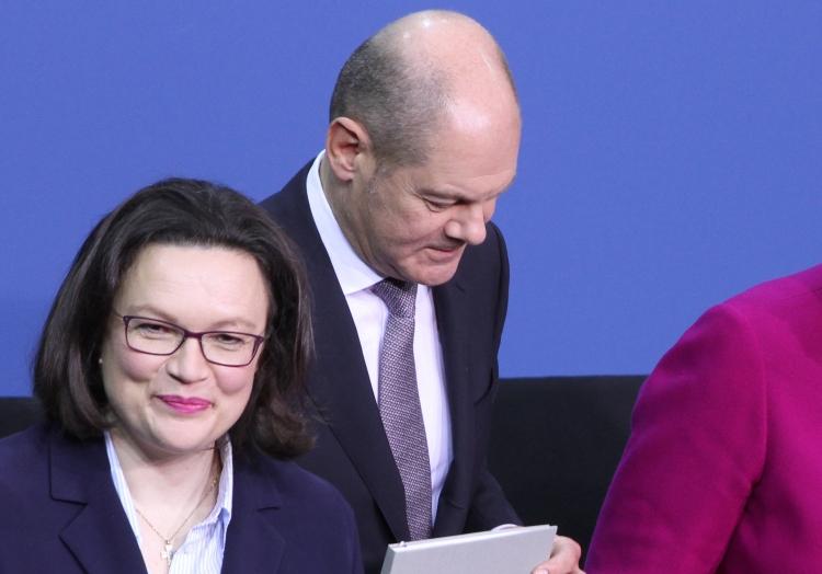 Andrea Nahles und Olaf Scholz, über dts Nachrichtenagentur