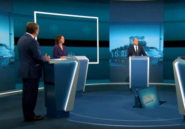 TV-Triell bei RTL/ntv am 29.08.2021, über dts Nachrichtenagentur