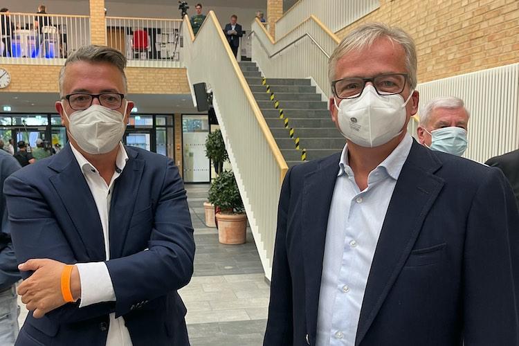 Wenig Freude beim Betrachten der Zahlen: CDU-Chef Christoph Baak und Kandidat Ulrich Gathmann.