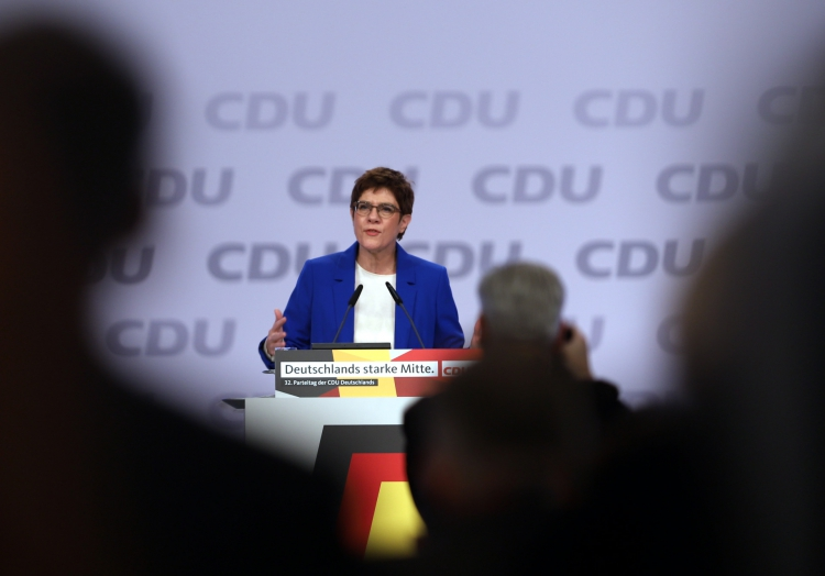 Annegret Kramp-Karrenbauer auf CDU-Parteitag, über dts Nachrichtenagentur