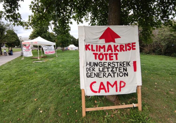 Hungerstreik-Camp, über dts Nachrichtenagentur