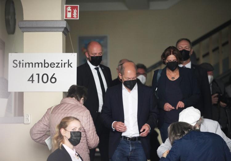 Scholz bei Stimmabgabe am 26.09.2021, über dts Nachrichtenagentur