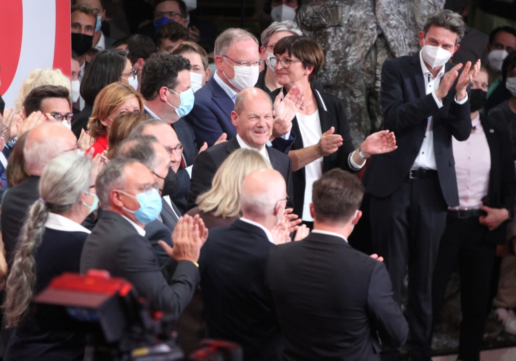 SPD-Anhänger im Willy-Brandt-Haus am 26.09.2021, über dts Nachrichtenagentur