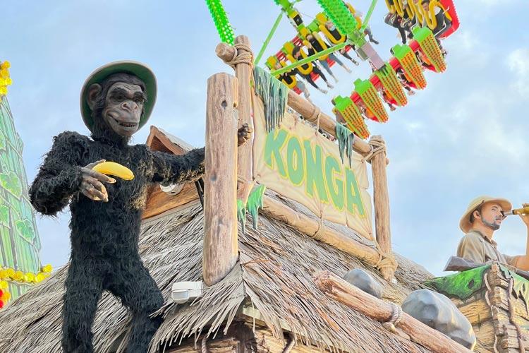 Die Konga-Schaukel ist eine von mehreren Attraktionen des Freizeitparks LaOLa.
