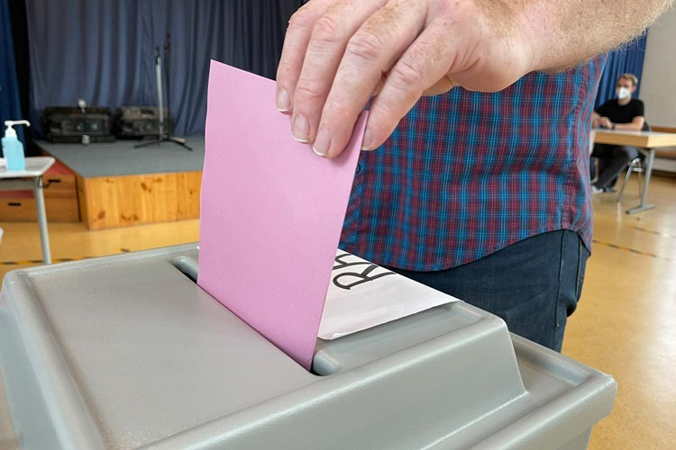 Wahlurne in Oldenburg.