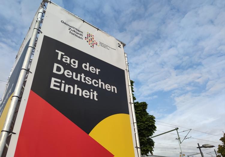 Feier zum Tag der Deutschen Einheit 2021 in Halle (Saale), über dts Nachrichtenagentur