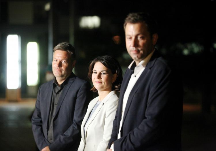 Sondierungsgespräche SPD/Grüne am 03.10.2021, über dts Nachrichtenagentur