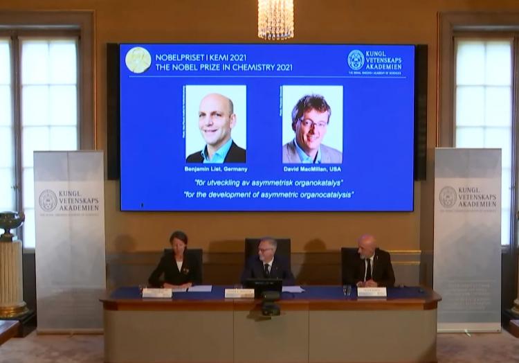 Bekanntgabe Chemie-Nobelpreis am 06.10.2021, über dts Nachrichtenagentur