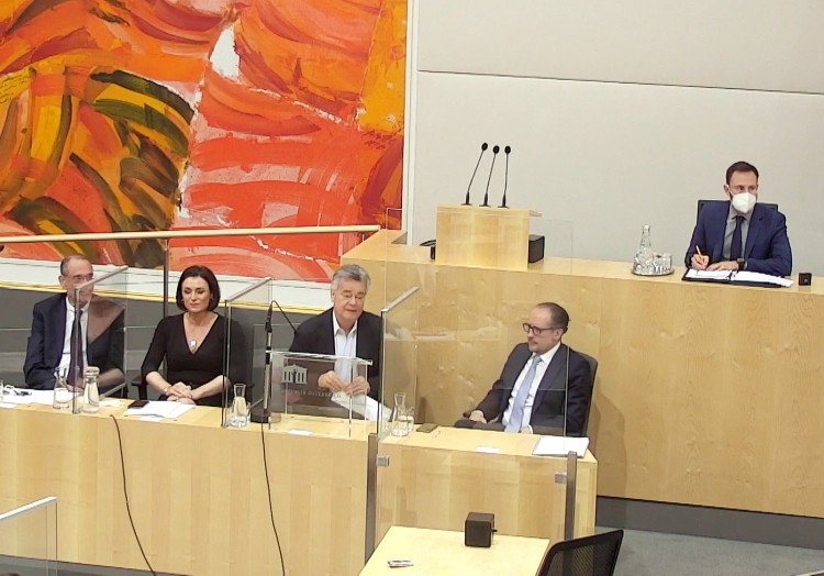 Alexander Schallenberg im Nationalrat am 12.10.2021, über dts Nachrichtenagentur