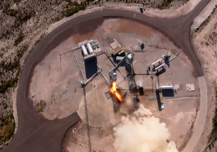 William Shatner startet am 13.10.2021 mit Rakete ´New Shepard´ in Richtung Weltraum, über dts Nachrichtenagentur